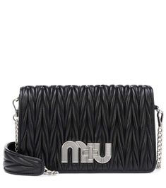Matelassé Leather Shoulder Bag - Miu Miu   mytheresa Miu Miu Matelasse,  Handbags, Fashion f0c0bc636df