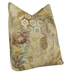 Windflower Accent Cotton Throw Pillow