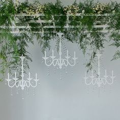 Vintage Chandelier Silhouette - ideal decor for a garden wedding.