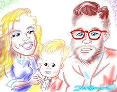 See Saturday's 1st birthday party #caricatures https://facebook.com/caricature.artist.nyc Hire me to draw your trade show caricatures before it's too late!