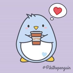Piki love Coffee  #pikithepenguin #Piki #lovepenguins #penguinslover #animals #loveanimals #cute #kawaii #kawai #cuddly #coffee #lovecoffee #coffeetime #coffeelover #coffeepassion #morning