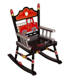 Black Fire Engine Rocker by Levels of Discovery. So cute for a little fireman room!