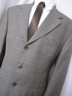 Jacket 42 R Embassy Wool Blend Overchecked Tweed 3 Button Sport Blazer Mens Coat Blazer Jacket, Leather Jacket, Business Formal, Ebay Auction, Username, Mens Fashion, Fashion Trends, Wool Blend, Tweed