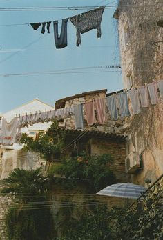 Clotheslines. Cool!