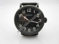 Parnis 46mm PVD case Seagull 3600 hand winding Bla - Hand Winding - Parnis watch station