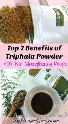 Top 7 Triphala Benefits + #DIY #Hair #strengthening #Recipe #triphala (by WhippedGreenGirl.com) #triphalapowder