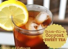 Chick-fil-a sweet Tea recipe, well here you go! Although I am not a huge tea fan, I am married to one! My husband (with some southern roots) has been making sweet tea for our friends [. Yummy Drinks, Yummy Food, Sweet Tea Recipes, Making Iced Tea, Dont Forget To Smile, Don't Forget, Just Girly Things, Simple Things, Girly Stuff