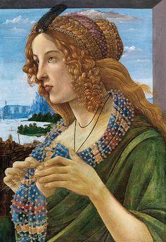 Sandro BOTTICELLI: Allegorical Portrait of a Lady (Simonetta Vespucci ?)   #TuscanyAgriturismoGiratola
