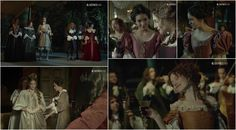 Womens' costumes from the tv series Versailles, my own screencaps