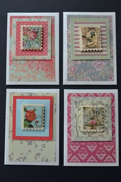 Set of 4 Mini C7 handmade greetings by FromJennyWithLoveJK on Etsy