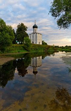 The Church of the Intercession of the Holy Virgin on the Nerl River was build in 1158. It is situated in the small town of Bogolyubskoe, Suzdal Region, Vladimir Province, Russia.