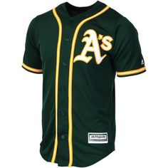 Outerstuff Mlb Youth Oakland Athletic Button Up Jersey Suitable For Men And Women Of All Ages In All Seasons Tops, Shirts & T-shirts Boys' Clothing (sizes 4 & Up)