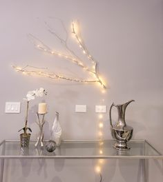 mrkate_omg_waco_chloe_blog-128-of-140 Twinkle Lights, Twinkle Twinkle, Lighted Branches, Diy Projects To Try, Apartment Ideas, Kids Bedroom, Chloe, Arts And Crafts, Gallery Wall