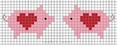 cross stitch chart or bead loom pattern Tiny Cross Stitch, Cross Stitch Animals, Cross Stitch Charts, Cross Stitch Patterns, Bead Loom Patterns, Beading Patterns, Cross Stitching, Cross Stitch Embroidery, Motifs Animal