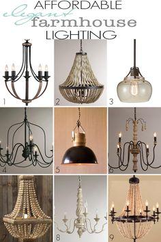 Affordable Elegant Farmhouse Lighting