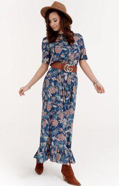 Roco Szyfonowa sukienka w kwiaty 283/W02 Two Piece Skirt Set, Skirts, Model, Pants, Dresses, Fashion, Mathematical Model, Gowns, Moda