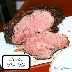Recipes, Food and Cooking Grilled Boneless Standing Rib Roast - Recipes, Food and Cooking Boneless Prime Rib Recipe, Rib Roast Recipe, Roast Beef Recipes, Pot Roast, Tailgating Recipes, Grilling Recipes, Cooking Recipes, Yummy Recipes, Carne Asada