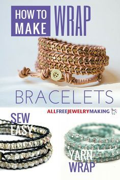 awesome DIY Bijoux - Everyone loves the look of leather wrap bracelets. They have an earthy bohemian ...