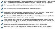 Kit Piloto Automático - O Segredo do Sucesso! Revendedor Autorizado: Hélio Ricardo Moraes Cabral