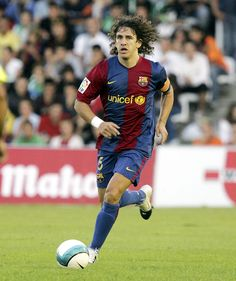Carles Puyol, heart and courage, flag of a country.