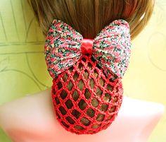 hair lace crochet bun cover or snood - Google Search