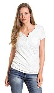 Yessica T-shirt crèmekleurig katoenen shirt met print- Ruglengte: ca. 74 cm in maat 46 - 100% Katoen #zomercollectie #zomerkledingdames #zomerkleding