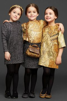 Dolce and Gabbana kids collection FW 2013 Little Girl Fashion, Little Girl Dresses, Toddler Fashion, Kids Fashion, Girls Dresses, Dolce And Gabbana Kids, Dolce & Gabbana, Little Fashionista, Outfits For Teens