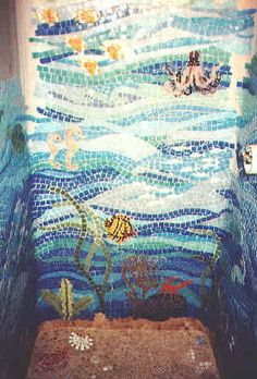 Mosaic Tile Design Ideas specihome gorgeous interior and exterior design Mosaic Design Ideas Mosaic Tile Design Shower Installation In A Gulf Coast Waterfront