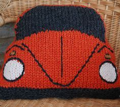 This knitting pattern (available from www.slightly-sheepish.com) is to make a Cushion Cover based on the VW Beetle / Bug and will fit a cushion pad approximately 40cm/16″ square. I've made the original in Wendy Serenity Super Chunky yarn (3 x 100g balls, 2 in your chosen body colour and 1 jet for windows and bumpers) which is knitted to a tension of 10 sts and 12 rows to 10cm/4 inches. Of course you can use any yarn you like as long as the tension is correct! I used 9mm needles (UK00, US ...