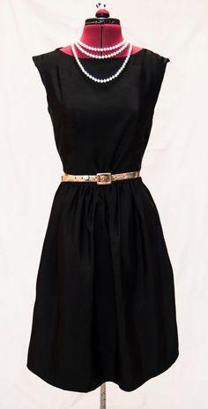Bridesmaid dress, black dress, party dress, pinup tea party dress, 50's dress, mad men dress, vintage inspired dress #Clothing  #Women'sClothing  #Dresses  #blackdress  #littleblackdress  #gothicdress  #blackretro #dress  #AudreyHepburn #1950sdress  #retrodress  #promdress  #vintage style  #partydress  #summer dress  #50s  #cocktail #yokochic #BlackSkaterDress  #SweetheartDress  #RetroStyleDress