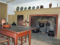 The north kitchen at Old Fort Western. Fort Western, Old Fort, Pine Tree, Maine, Buildings, Museum, Kitchen, House, Furniture