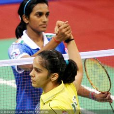 the best players...my favourites ..Saina Nehwal and P.V Sindhu. India's pride.....would like to include Sakshi Malik too...will post her pic soon...Go girls...