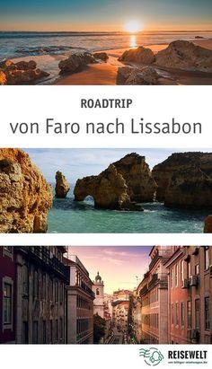 Traumhafter Roadtrip entlang der portugiesischen Küste. Entdeckt die Traumstrände der Algarve, schnuckelige Dörfer & die spannende Metropole Lissabon! #roadtrip #rundreise #algarve #portugal