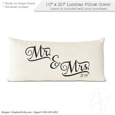 Mr and Mrs Pillow  Personalized Pillow  Wedding Gift  by iXiDesign#personalized #pillow #pillows #interiordesign #interior #design #custom #throwpillows #decorative #decor #mr #mrs Personalized Pillows, Custom Pillows, Wedding Anniversary Gifts, Wedding Gifts, Lumbar Pillow, Bed Pillows, Pillow Covers, Great Gifts, Unique Jewelry