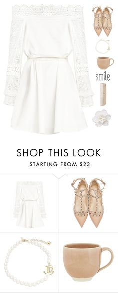 """""""Smile"""" by genesis129 ❤ liked on Polyvore featuring Valentino, Kate Spade, atelier tete and HAY"""