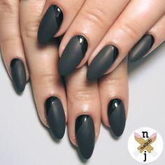 Edgy Ideas for Matte Black Nails to Break the Manicure Monotony - Fashionre
