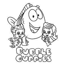 bubble guppies coloring page @jaime destefano romayo totally ... - Bubble Guppies Coloring Pages Goby