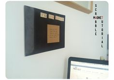 Scrabble magnético, una forma original de dejar tus notas