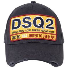 916cf32960f18 Dsquared2 Men Logo Patch Canvas Baseball Hat ( 115) ❤ liked on Polyvore  featuring men s