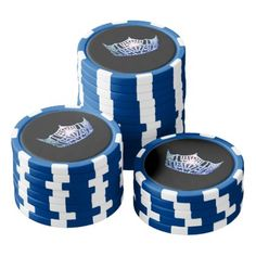 Miss America Blue Crown Poker Chips-Blue Poker Chips Set - home decor design art diy cyo custom
