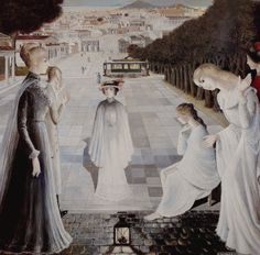 Messenger of Evening, via ポール・デルボー Paul Delvaux