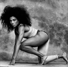 Florence Griffith Joyner (flo-jo) would have been 55 yrs old today. photo by…