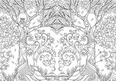 An illustration from Johanna Basford's coloring book