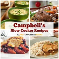 Easy slow cooker meals for any occasion are yours with our collection of Campbell's slow cooker recipes. These Campbell's Kitchen recipes are versatile enough for any occasion! Slow Cooker Soup, Slow Cooker Recipes, Beef Recipes, Cooking Recipes, Crockpot Meals, Freezer Recipes, Crockpot Dishes, Cooking 101, Yummy Recipes