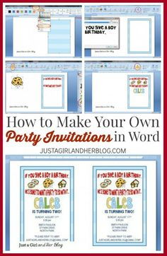 Learn how to make your own party invitations in Microsoft Word! This tutorial makes it so easy! Click through to see how!