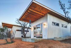 A micro-housing project in Texas by Matt Garcia. See more at http://humble-homes.com/tiny-houses-matt-garcia-llano-exit-strategy/