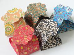 Indian design favor boxes - throw some chocolates in there!