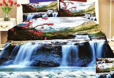Ložní povlečení s motivem horského vodopádu