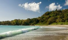 Osa Peninsula, Cabo Matapalo Backwash Bay waves rolling in, Costa Rica