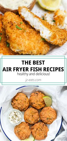 The best Air Fryer fish recipes - If you& obsessed with an air fryer . - The Best Air Fryer Fish Recipes – If You& Obsessed With An Air Fryer Or Wondering How To C - Air Fryer Recipes Snacks, Air Fryer Recipes Breakfast, Air Frier Recipes, Air Fryer Dinner Recipes, Air Fryer Recipes Shrimp, Snacks Dishes, Catfish Recipes, Fried Fish Recipes, Salmon Recipes